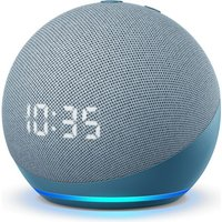 Amazon Echo Dot (4th Gen) with Clock Smart Speaker with Amazon Alexa - Blue