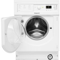 Hotpoint WDHL7128UKWD Built-In Washer Dryer, 7kg Wash/5kg Dry Load, B Energy Rating, White