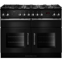Rangemaster Esprit ESP110DFF Double Dual Fuel Range Cooker, 110cm Wide, A Energy Rating, Black