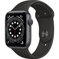 Apple Watch Series 6 GPS, 44mm Space Grey Aluminium Case with Black Sport Band - Regular