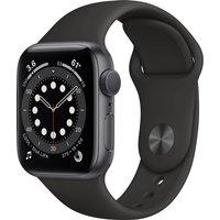 Apple Watch Series 6 GPS, 40mm Space Grey Aluminium Case with Black Sport Band - Regular