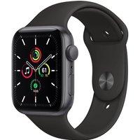 Apple Watch SE GPS, 44mm Space Grey Aluminium Case with Black Sport Band - Regular