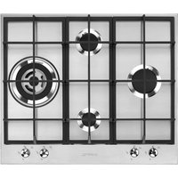 Smeg PX364L 60cm Gas Hob, Stainless Steel
