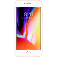 Apple iPhone 8 (256GB Gold Pre-Owned Grade B) at £25.00 on No contract £29.69 a month.