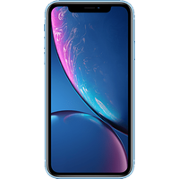 Apple iPhone XR (128GB Blue Pre-Owned Grade A) at £50.00 on No contract £56.17 a month.