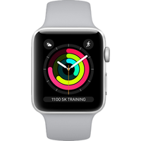 Apple Watch Series 4 44 mm (GPS+Cellular) Silver Aluminium Case with White Sport Band