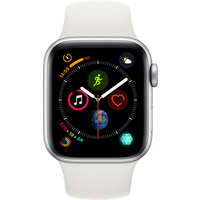 Apple Watch Series 4 40 mm (GPS+Cellular) Silver Aluminium Case with White Sport Band