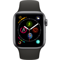 Apple Watch Series 4 40 mm (GPS+Cellular) Space Grey Aluminium Case with Black Sport Band (Refurbished Grade A)