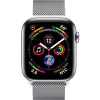 Apple Watch Series 4 44 mm (GPS+Cellular) Stainless Steel Case with Milanese Loop