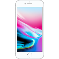 Apple iPhone 8 (64GB Silver Pre-Owned Grade A) at £25.00 on No contract £95.94 a month.