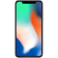 Apple iPhone X (256GB Silver Pre-Owned Grade C) at £200.00 on No contract £53.41 a month.