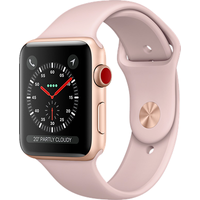 Apple Watch Series 3 38mm Aluminium Case with Pink Sand Sport Band (Gold)