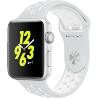 Apple Watch Nike+ 42mm Aluminium Case with Pure Platinum/Black Nike Sport Band (Silver)