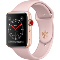 Apple Watch Series 3 42mm Aluminium Case with Pink Sand Sport Band (Gold)