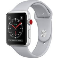 Apple Watch Series 3 38mm (GPS+Cellular) Silver Aluminium Case with White Sport Band