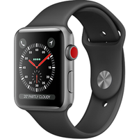 Apple Watch Series 3 38mm Aluminium Case with Black Sport Band (Space Grey)