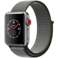 Apple Watch Series 3 42mm Aluminium Case with Dark Olive Sport Band (Space Grey)