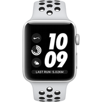 Apple Watch Series 3 Nike+ 38mm (GPS) Silver Aluminium Case with Pure Platinum/Black Nike Sport Band (Refurbished Grade A)