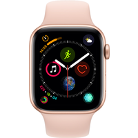 Apple Watch Series 4 40 mm (GPS+Cellular) Gold Aluminium Case with Pink Sand Sport Band (Refurbished Grade A)