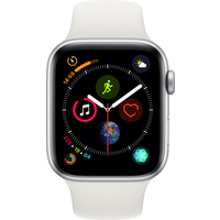 Apple Watch Series 4 44 mm (GPS+Cellular) Silver Aluminium Case with White Sport Band (Refurbished Grade A)
