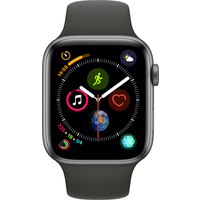 Apple Watch Series 4 44 mm (GPS+Cellular) Space Grey Aluminium Case with Black Sport Band