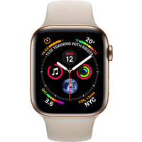 Apple Watch Series 4 40 mm (GPS+Cellular) Gold Stainless Steel Case with Stone Sport Band