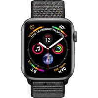 Apple Watch Series 4 44mm(GPS) Space Grey Aluminium Case with Black Sport Loop (Refurbished Grade A)