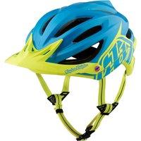 Troy Lee Designs A2 MIPS Helmet - Decoy Cyan-Yellow 2017