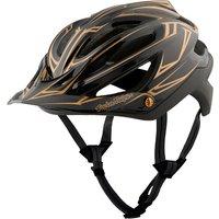 Troy Lee Designs A2 MIPS Helmet - Pinstripe Black-Gold 2017