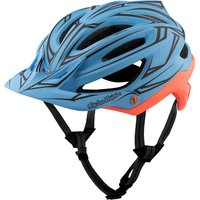 Troy Lee Designs A2 MIPS Helmet - Pinstripe Blue-Red 2017