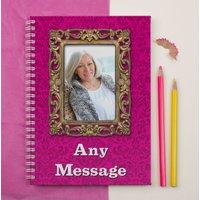 'Frame It' Photo Upload Notebook - Vintage Pink - Photo Gifts