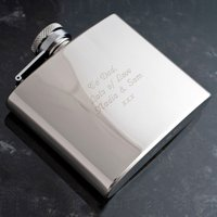 Engraved Stainless Steel Hip Flask - Flask Gifts