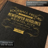Personalised Bristol City Football Book - Football Gifts