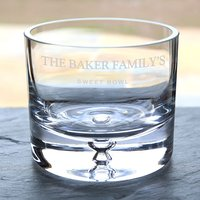 Personalised Glass Bowl - Family Sweet Bowl - Bowl Gifts