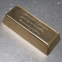 Personalised Gold Bar - Personal Message - Personal Gifts
