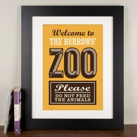 Personalised Print - Family Zoo - Decorations Gifts