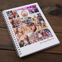 Photo Upload Notebook - 8 Photos & A Message - Photos Gifts