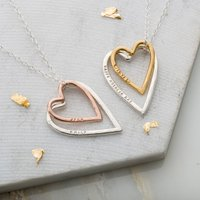 Personalised Posh Totty Designs Double Heart Necklace - Posh Gifts