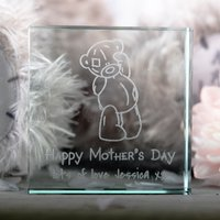 Personalised Me To You Glass Token - Happy Mothers Day