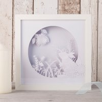 Bunny Rabbit Framed Papercut Mood Light