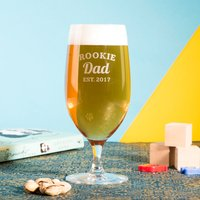 Personalised Cabernet Stem Beer Glass - Rookie Dad - Beer Glass Gifts