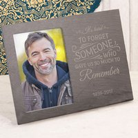 Engraved Slate Chalkboard Photo Frame - It's Hard To Forget Someone