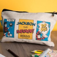 Personalised Beano Classic Canvas Pencil Case - Top Dog - Beano Gifts