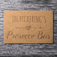 Personalised Outdoor Doormat - Prosecco Bar - Outdoor Gifts