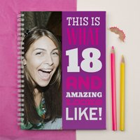 Photo Upload Notebook - 18 And Amazing - For Her - 18th Birthday Gifts