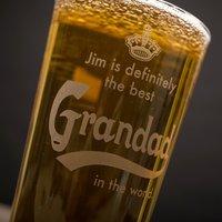 Personalised Pint Glass - Definitely The Best Grandad - Grandad Gifts