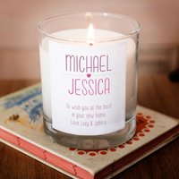 Image of Personalised Scented Candle - Couple's Colourful Heart