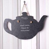 Engraved Slate Teapot