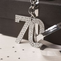 Crystal Keyring - 70th Birthday - 70th Birthday Gifts