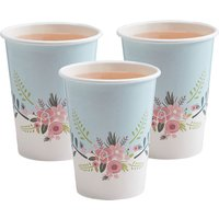 Floral Fancy Paper Cups (Pack Of 8) - Cups Gifts